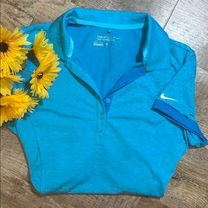Nike Golf | Blue Dri-Fit Tour Performance Shirt